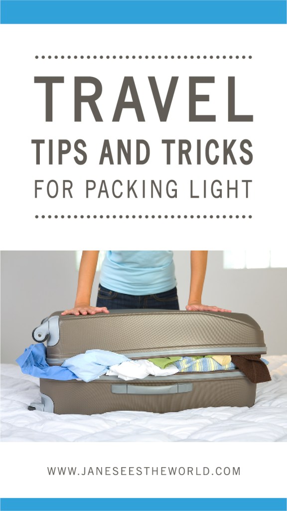 Travel tips and tricks packing light for women vacation