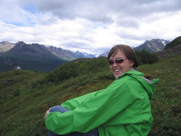 Heli-hiking in Alaska.