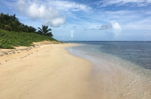 Empty beach on Puerto Rico.