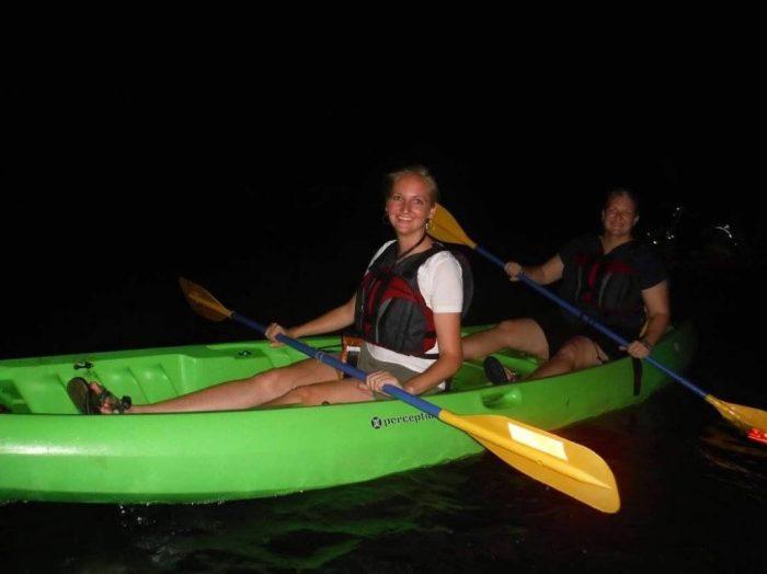 Kayaking in Puerto Rico's bio luminescent bay