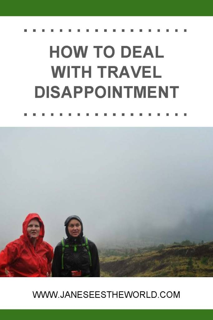 travel disappointment, rain, Indonesia, hiking