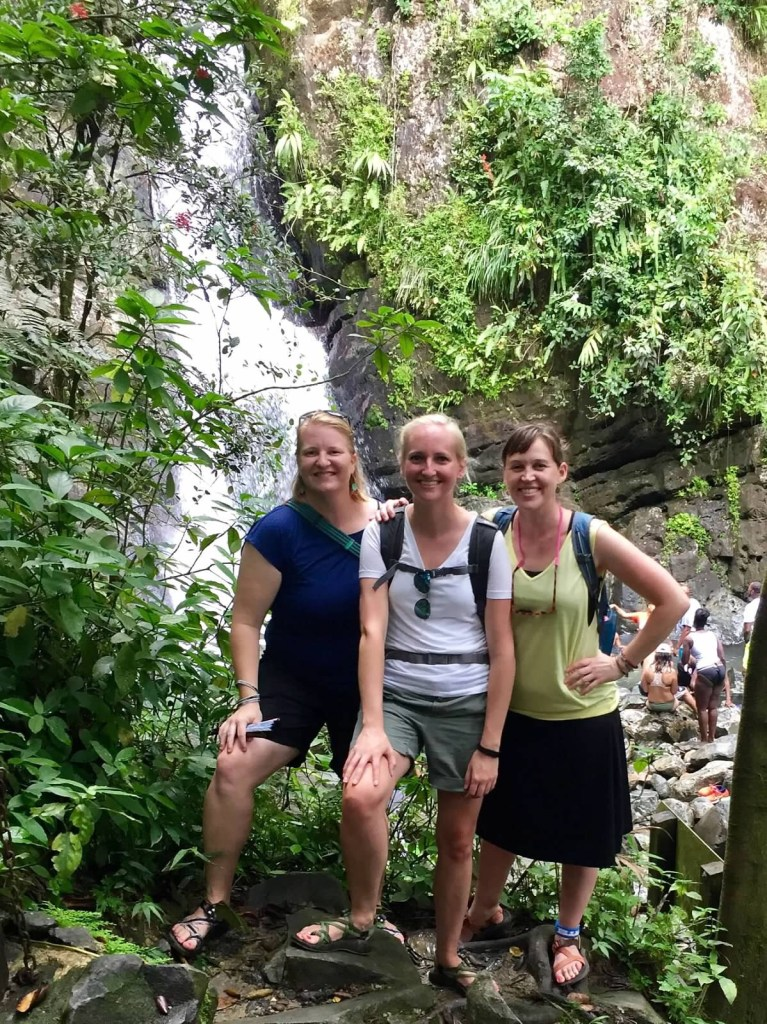 waterfall hike Puerto Rico tourists travel vacation