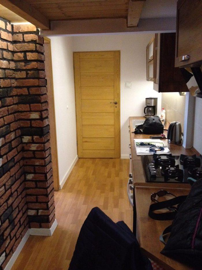 Airbnb kitchen in Krakow