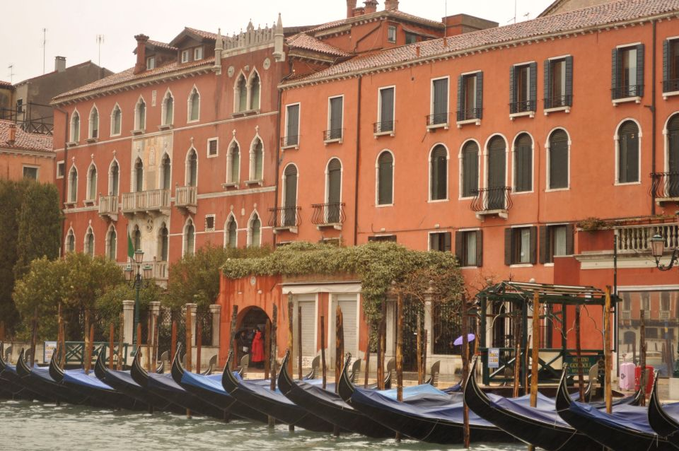 Comparison Venice, Italy Blue Boats Old Buildings