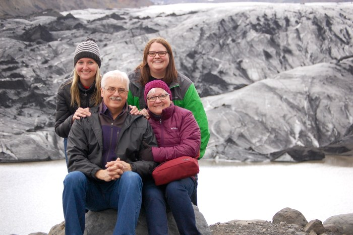 Family of four in Iceland