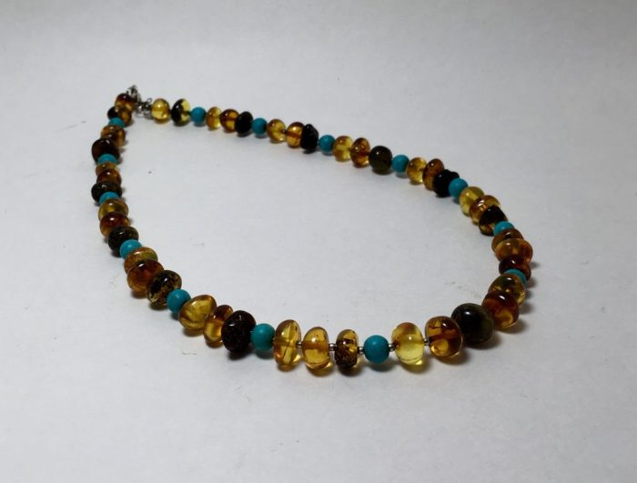 Amber and turquoise necklace.