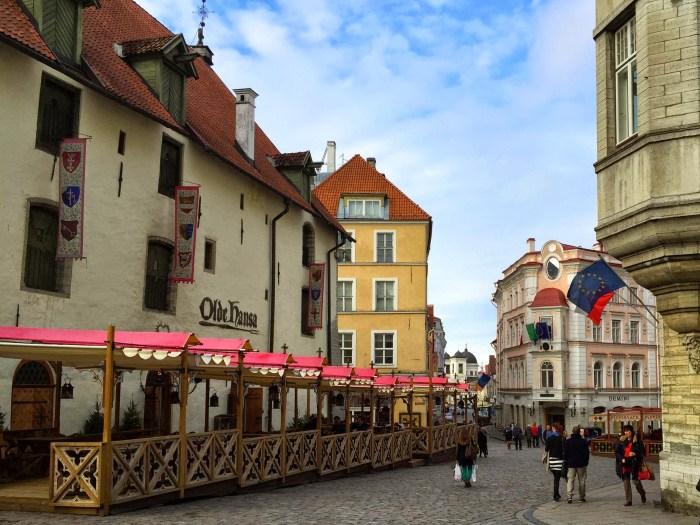 Old town Tallinn Estonia cobblestone streets airbnb