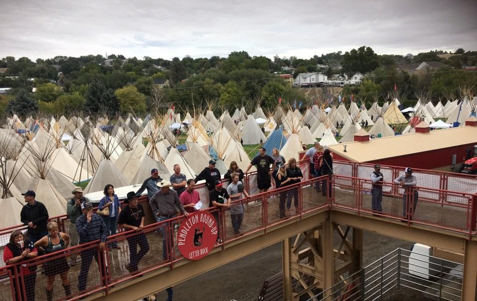 Pendleton Round-Up Tribal Village teepee tipi