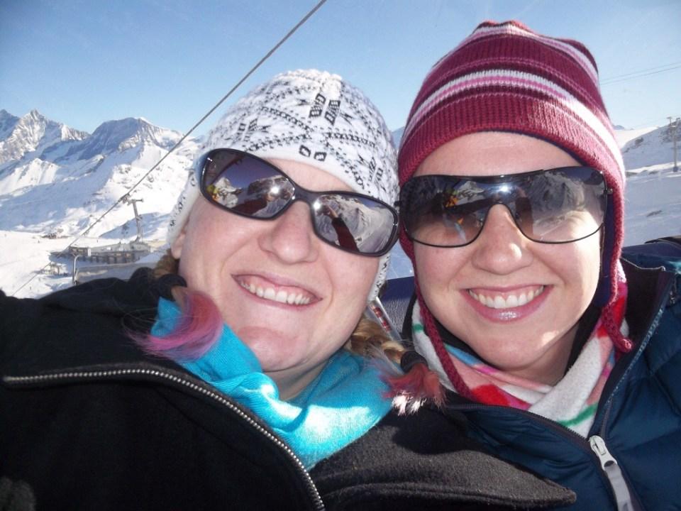 Skiing in Switzerland in February.