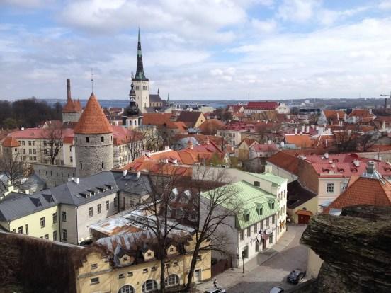 View of Old Town Tallinn