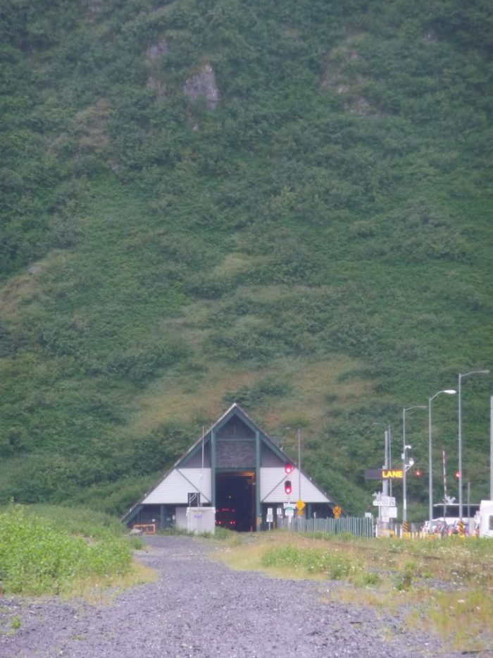 Tunnel in Whittier, Alaska