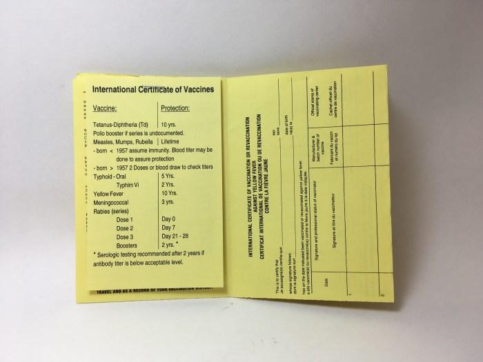 Vaccination List