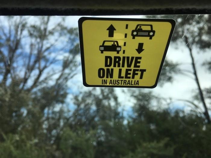 drive on left Australia travel tips vacation