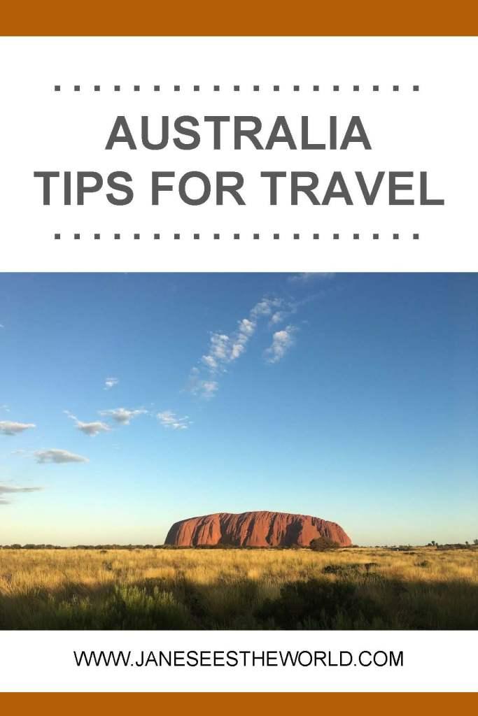 Australia travel tips vacation