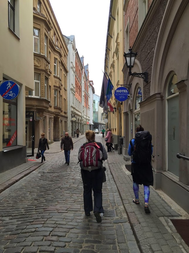 Walking the streets of Riga Latvia backpack vacation travel