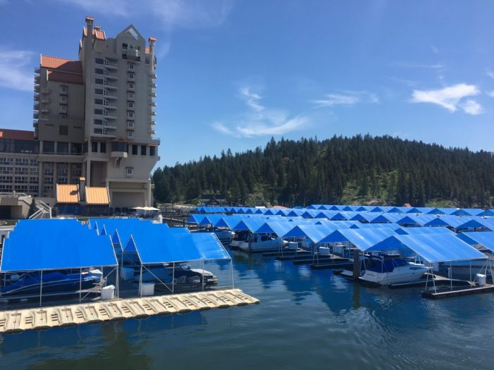 Killing time at Coeur d'Alene Resort in northern Idaho on a sunny day