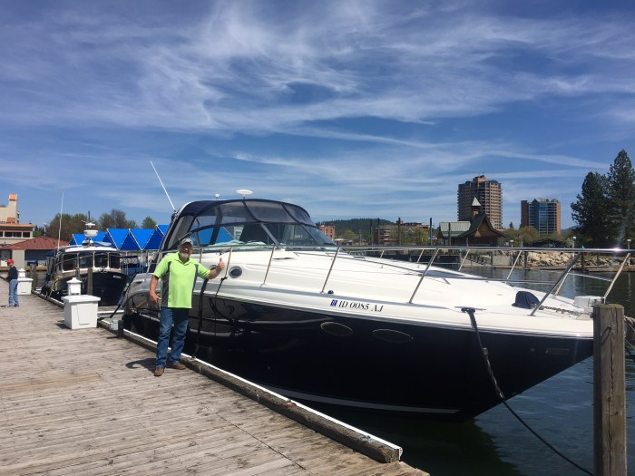 travel with parents, Coeur d'Alene, Idaho, dad, boat