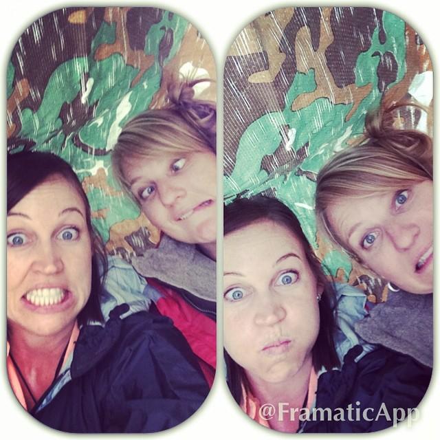 Having fun during a rain storm