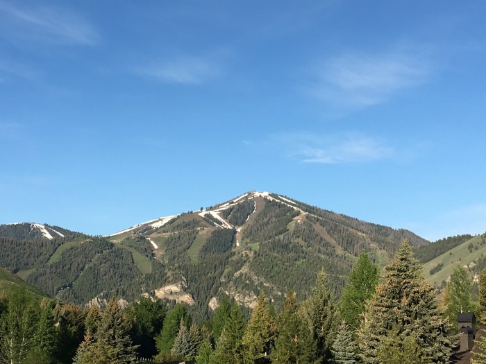 Bald Mountain in the spring Ketchum Idaho