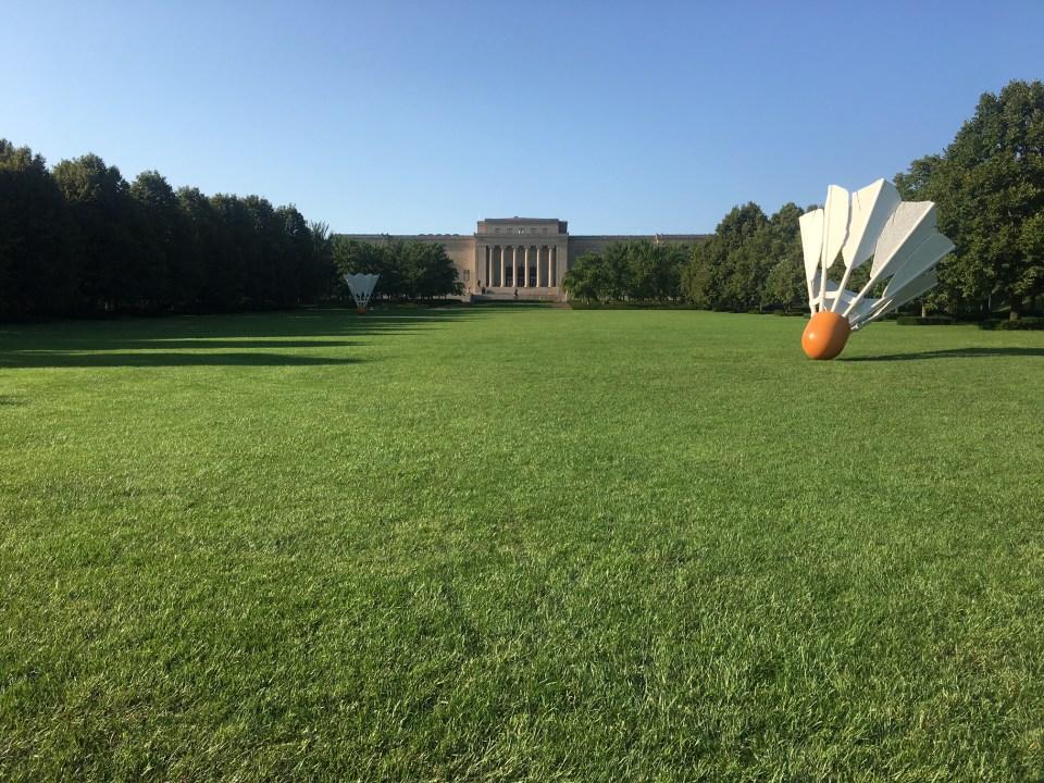 Nelson-Atkins museum grounds, Kansas City, green grace, shuttlecock