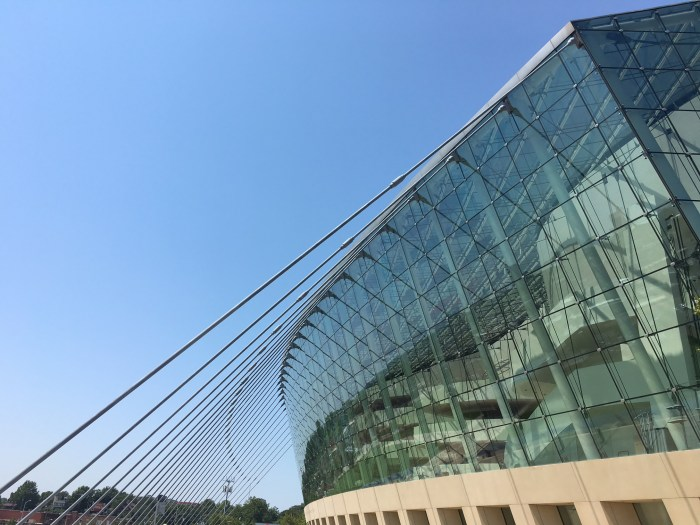 Kauffman Kansas City blue skies