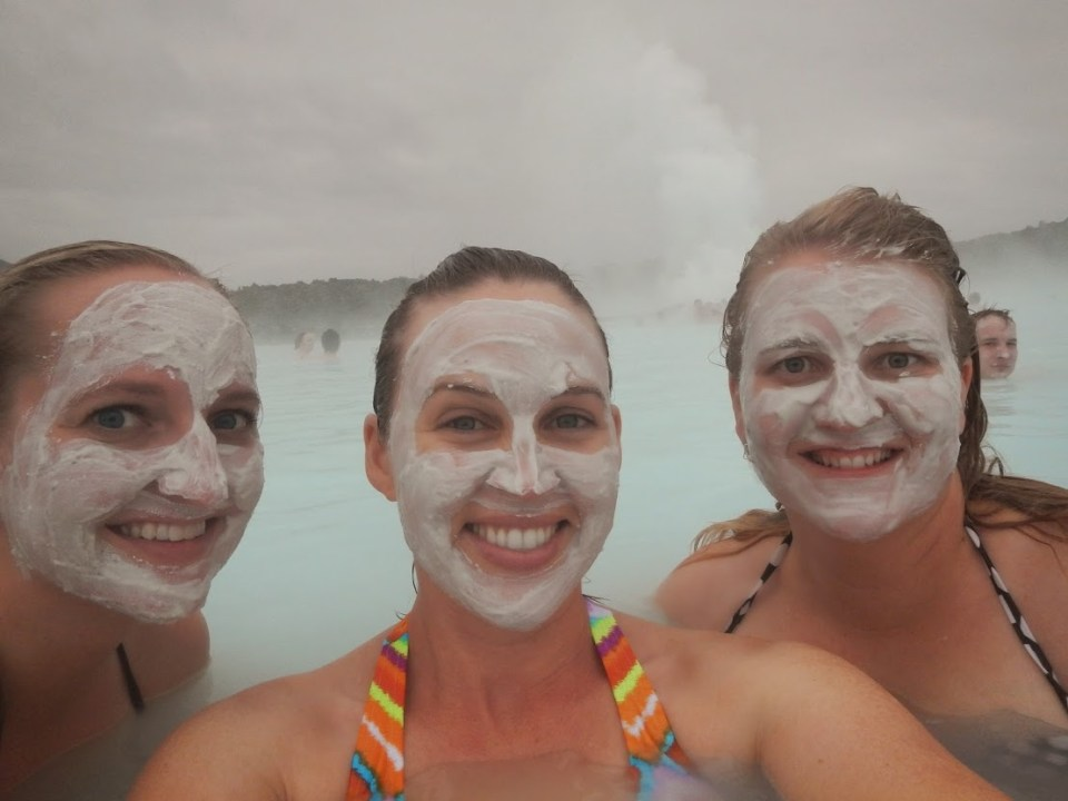 Girls' weekend, blue lagoon, Iceland, mud masks, friends