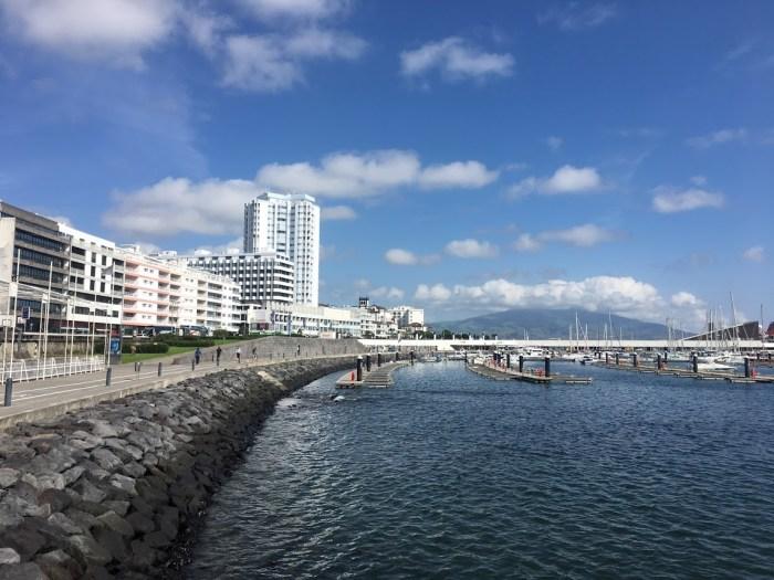 Blue skies, Ponta Delgada, São Miguel Island, Azores