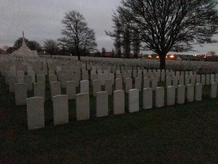 Cemetery, Ypres, Belgium, dust, not-so-fun travel
