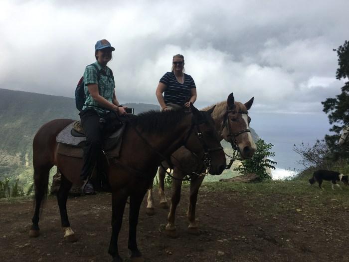 Riding horses on the Big Island