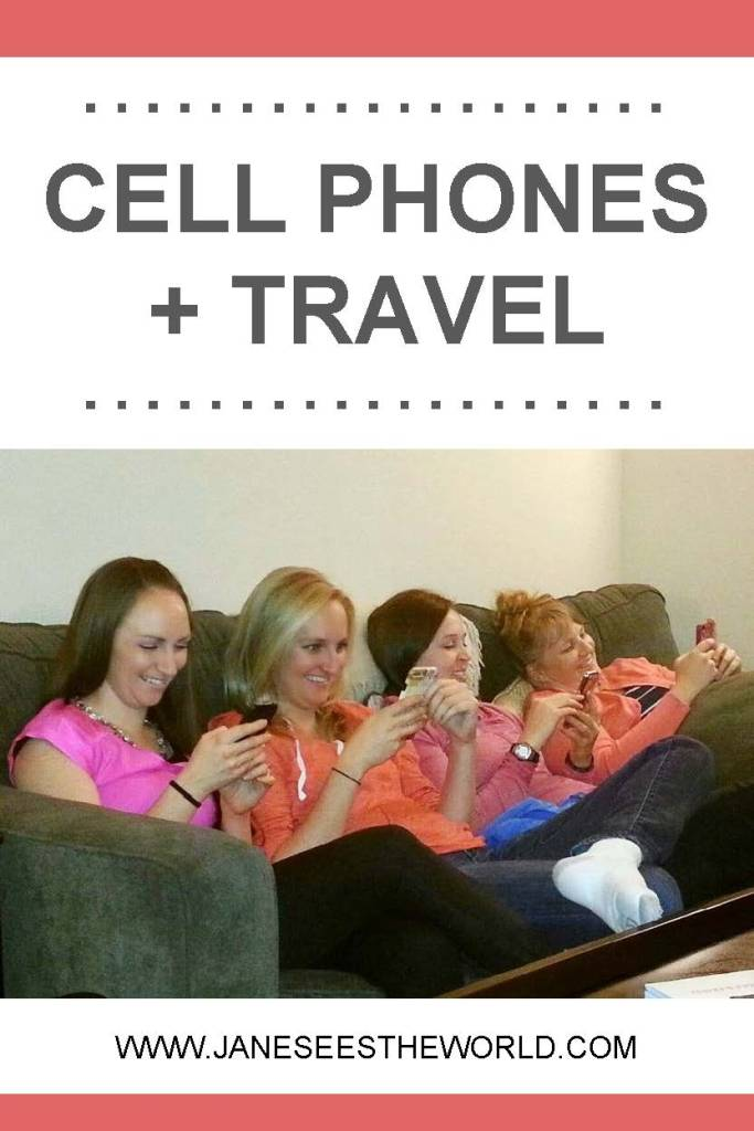 cell phone travel vacation women travelers