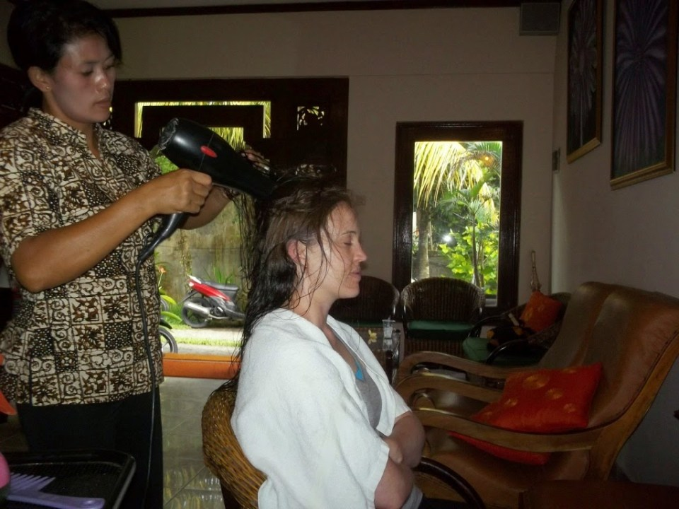 spa day, Ubud, bail, Indonesia, hair