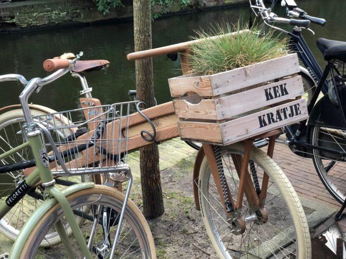 Amsterdam Wood Bike Canal