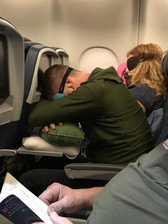 Overseas flight eye mask travel pillow