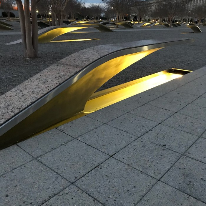 Pentagon Memorial places in DC to visit away from the Mall