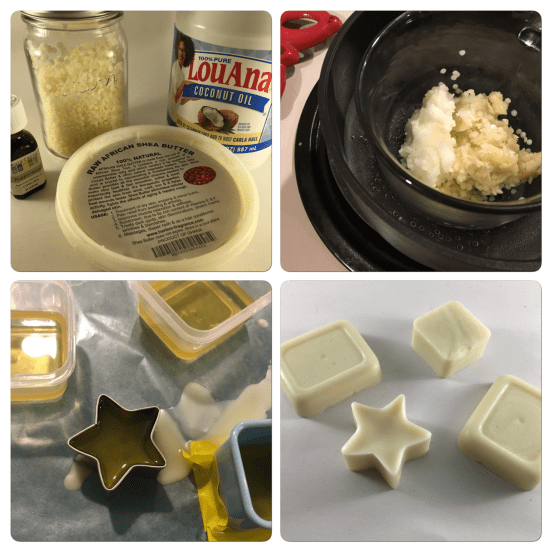 homemade DIY travel lotion bars