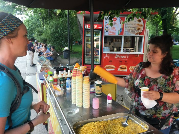 Sofia Bulgaria foreign language travel tips street food corn