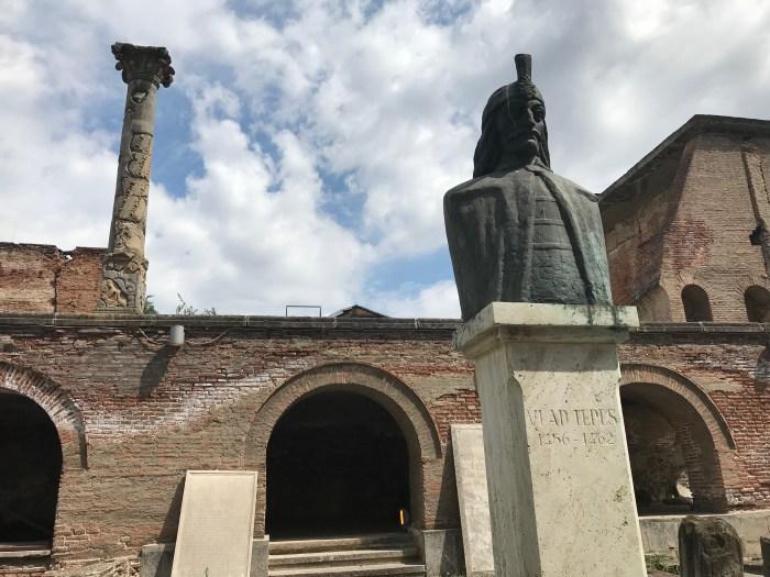Vlad the Impaler Statue in Bucharest