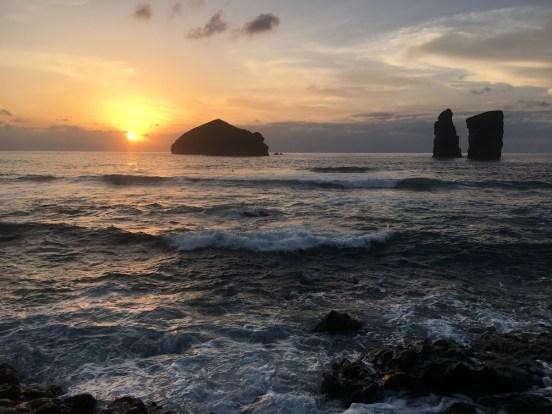 Azores sunset ocean