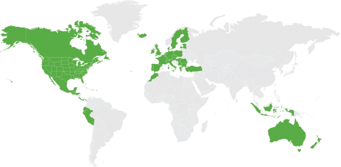 World map, where to go on your vacation