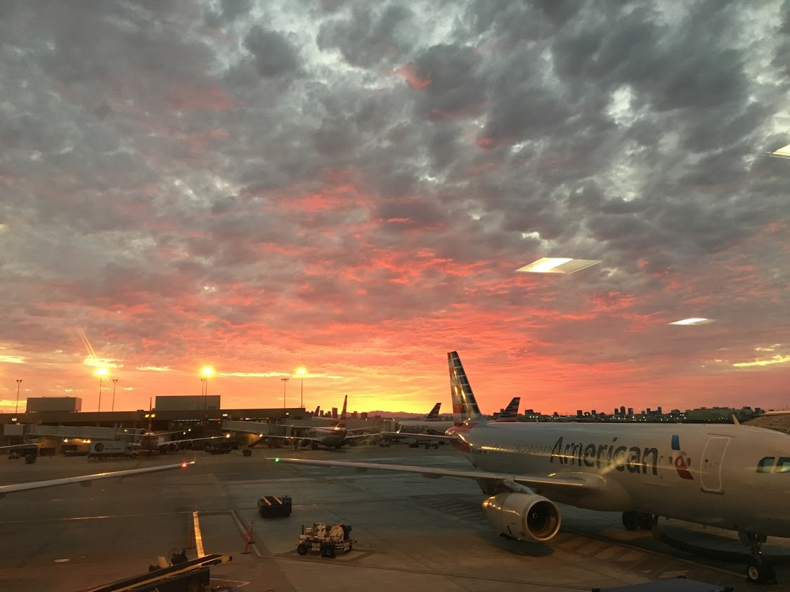 American Airlines planes sunset travel destinations for female travelers