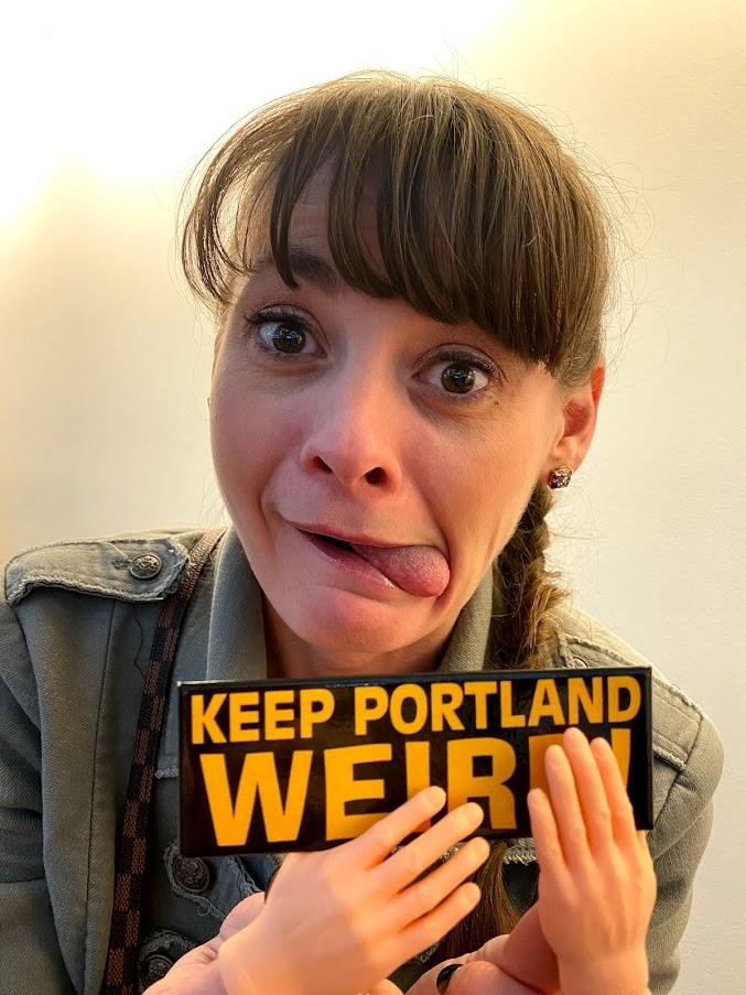 Keep Portland Weird sticker tiny hands
