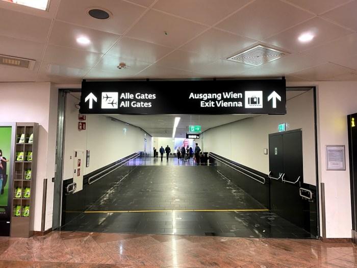 Vienna airport part of a trip to Europe cut short by Coronavirus