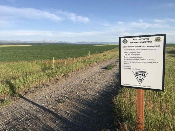 Ashton to Tetonia Trail marker