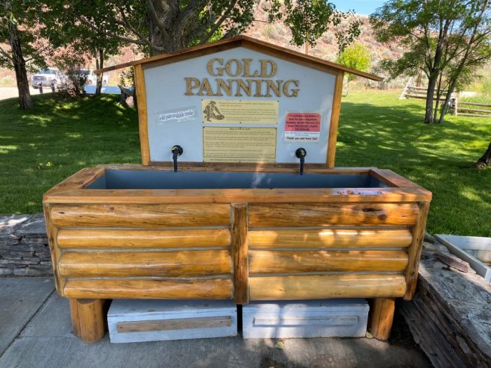 Pan for gold at Land of the Yankee Fork State Park interpretive center