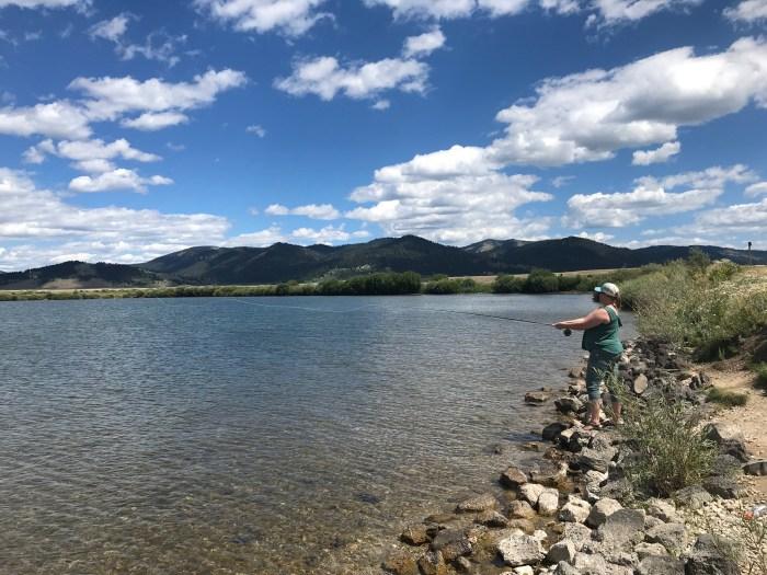 Fly fishing at Henrys Lake.