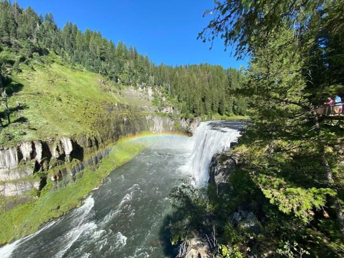 Mesa Falls in Idaho.