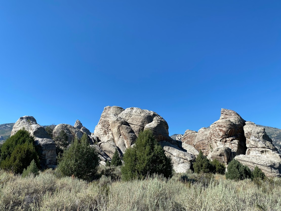 Rocks and blue skies at Castle Rocks State Park