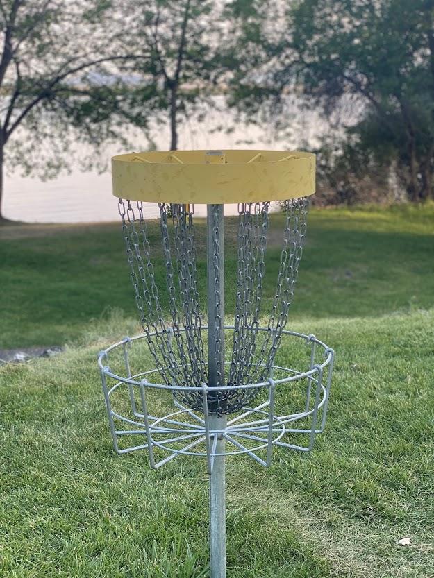 Disc golf at Walcott State Park