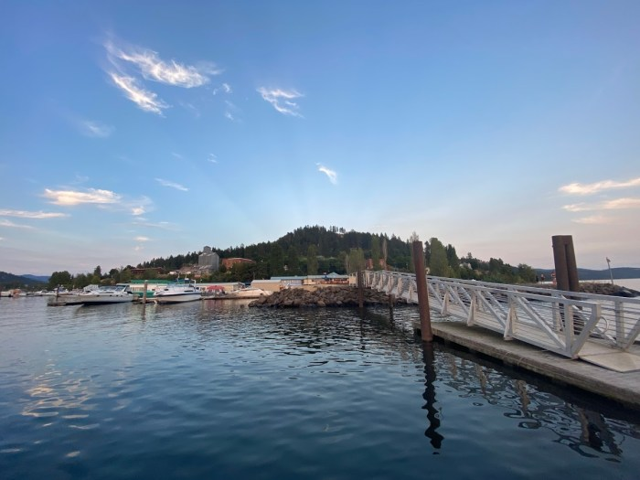 View of Harrison, Idaho from Lake Coeur d'Alene