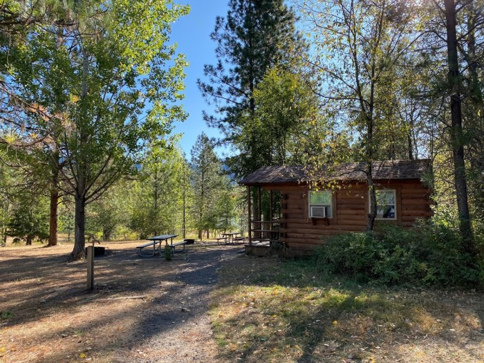 state park cabin in the forest